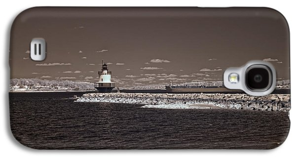 Old Maine Houses Galaxy S4 Cases - Spring Point Ledge Light Galaxy S4 Case by Joann Vitali