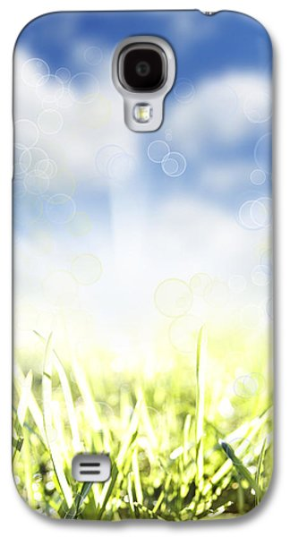 Sunset Abstract Galaxy S4 Cases - Springtime Galaxy S4 Case by Les Cunliffe