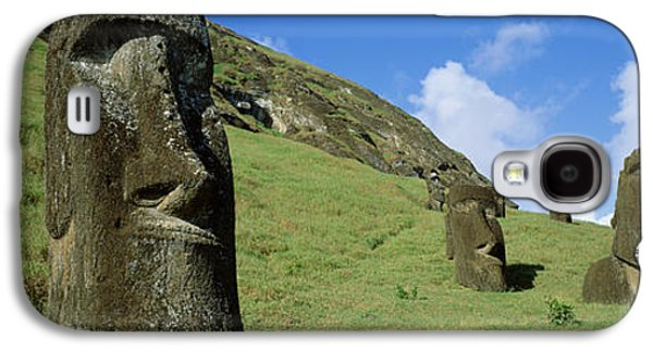 Megalith Galaxy S4 Cases - Stone Heads, Easter Islands, Chile Galaxy S4 Case by Panoramic Images