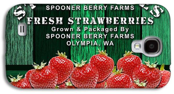 Strawberry Farm Galaxy S4 Case by Marvin Blaine