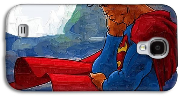 Eminem Paintings Galaxy S4 Cases - Superman Returns Galaxy S4 Case by Victor Gladkiy