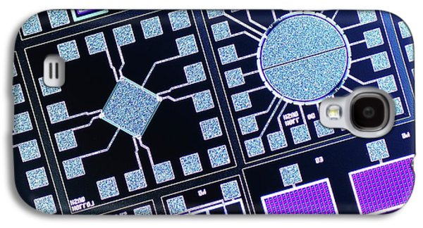 Surface Of Microchip Galaxy S4 Case by Alfred Pasieka