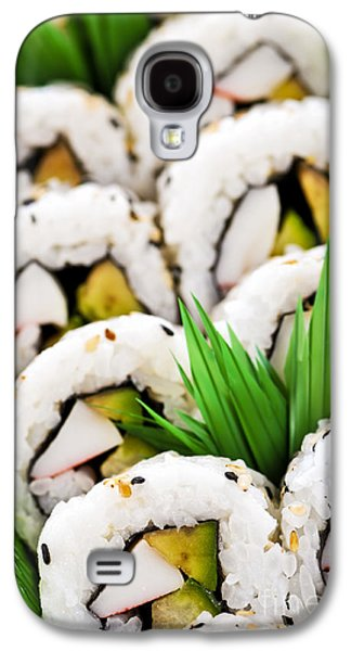 Platter Photographs Galaxy S4 Cases - Sushi platter Galaxy S4 Case by Elena Elisseeva