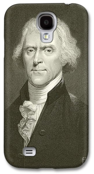 Historical Figures Galaxy S4 Cases - Thomas Jefferson Galaxy S4 Case by English School