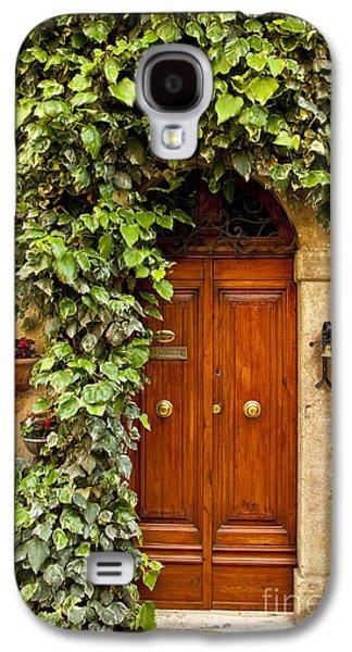 Wooden Door Galaxy S4 Cases - Tuscan Door Galaxy S4 Case by Brian Jannsen