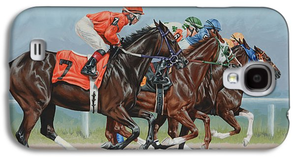 Race Horse Galaxy S4 Cases - Untitled  Galaxy S4 Case by Lesley Alexander