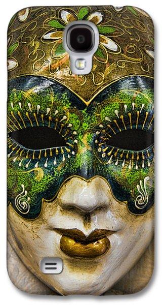 Artisan Galaxy S4 Cases - Venetian Carnaval Mask Galaxy S4 Case by David Smith