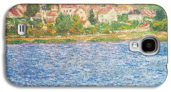River View Paintings Galaxy S4 Cases - Vetheuil Galaxy S4 Case by Claude Monet