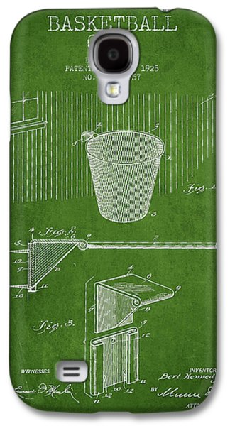 Hoop Galaxy S4 Cases - Vintage Basketball Goal patent from 1925 Galaxy S4 Case by Aged Pixel