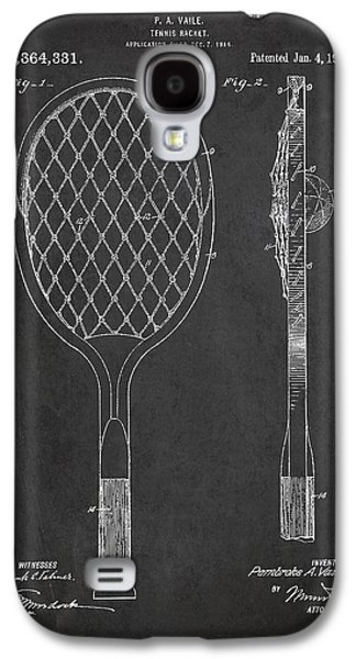 Tennis Galaxy S4 Cases - Vintage Tennnis Racket Patent Drawing from 1921 Galaxy S4 Case by Aged Pixel