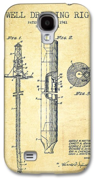 Rigs Galaxy S4 Cases - Vintage Well drilling rig Patent from 1941 Galaxy S4 Case by Aged Pixel