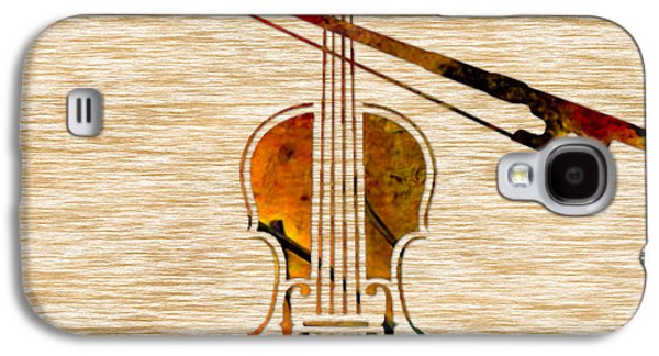 Violin And Bow Galaxy S4 Case by Marvin Blaine