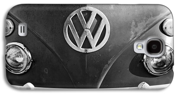 Transportation Photographs Galaxy S4 Cases - Volkswagen VW Bus Front Emblem Galaxy S4 Case by Jill Reger