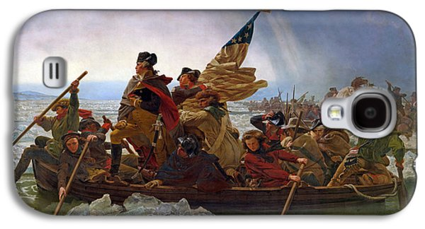 Stars And Stripes Paintings Galaxy S4 Cases - Washington Crossing the Delaware River Galaxy S4 Case by Emanuel Gottlieb Leutze