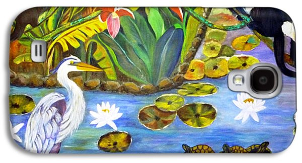 Food And Beverage Tapestries - Textiles Galaxy S4 Cases - On The Lotus Pond Galaxy S4 Case by To-Tam Gerwe