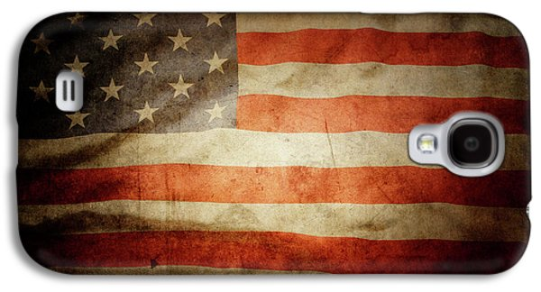 Best Sellers -  - Landmarks Photographs Galaxy S4 Cases - American flag  Galaxy S4 Case by Les Cunliffe