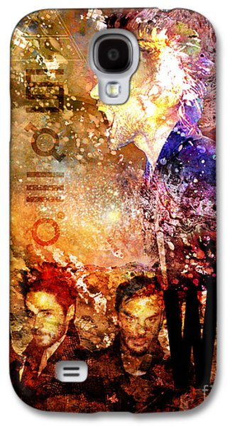 Sec Galaxy S4 Cases - 30 Seconds to Mars Painting Print Galaxy S4 Case by Ryan RockChromatic