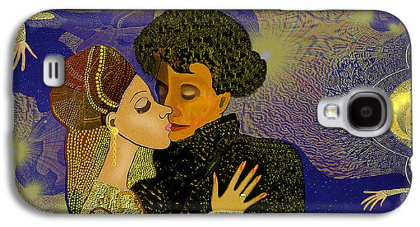 Gold Earrings Galaxy S4 Cases - 314 - Golden dancing   Galaxy S4 Case by Irmgard Schoendorf Welch