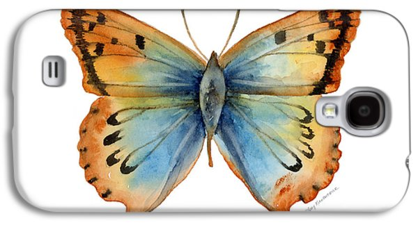 Moth Paintings Galaxy S4 Cases - 33 Opal Copper Butterfly Galaxy S4 Case by Amy Kirkpatrick