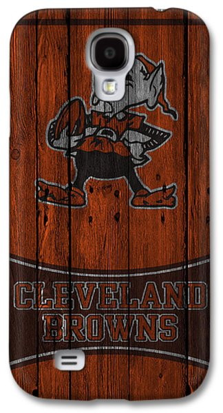 Offense Galaxy S4 Cases - Cleveland Browns Galaxy S4 Case by Joe Hamilton