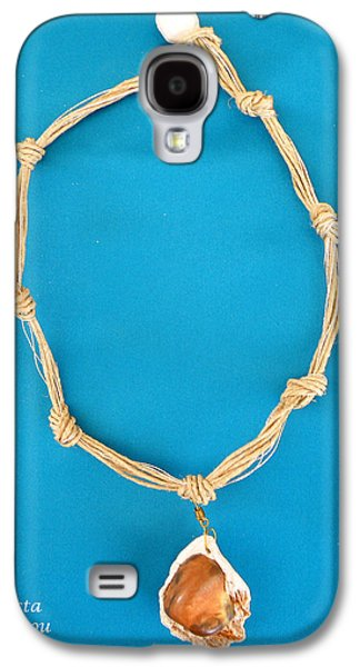 Silver Turquoise Jewelry Galaxy S4 Cases - Aphrodite Gamelioi Necklace Galaxy S4 Case by Augusta Stylianou