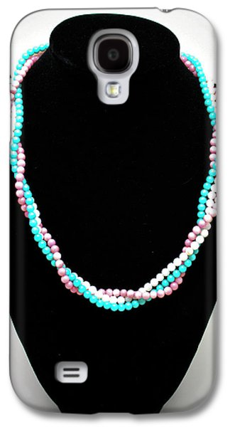Design Jewelry Galaxy S4 Cases - 3584 Three Strand Twisted Shell Necklace Galaxy S4 Case by Teresa Mucha
