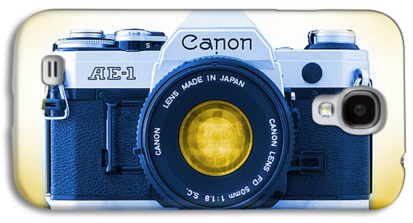 35mm Galaxy S4 Cases - 35mm BLUES Canon AE-1 Galaxy S4 Case by Mike McGlothlen