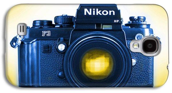 35mm Galaxy S4 Cases - 35mm BLUES Nikon F-3hp Galaxy S4 Case by Mike McGlothlen