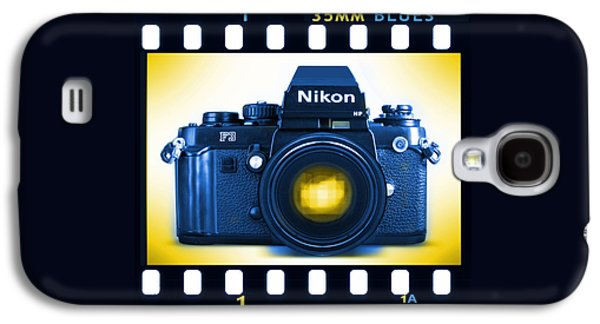 35mm Galaxy S4 Cases - 35mm BLUES Nikon F-3hp Galaxy S4 Case by Mike McGlothlen