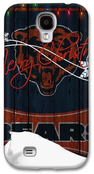 Christmas Greeting Galaxy S4 Cases - Chicago Bears Galaxy S4 Case by Joe Hamilton