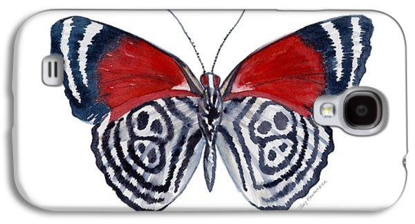 Moth Paintings Galaxy S4 Cases - 37 Diathria Clymena Butterfly Galaxy S4 Case by Amy Kirkpatrick
