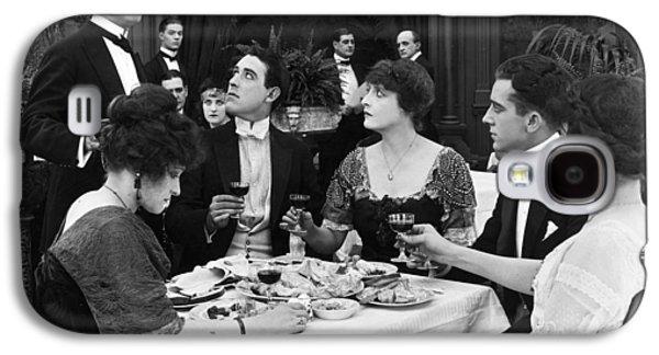 Wine Service Galaxy S4 Cases - Silent Film Still: Drinking Galaxy S4 Case by Granger