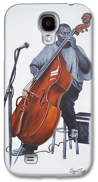Franklin Drawings Galaxy S4 Cases - 382 Henry Franklin - on bass Galaxy S4 Case by Sigrid Tune