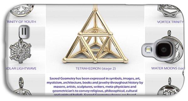 Geometry Jewelry Galaxy S4 Cases - 3d Art Models 2 Galaxy S4 Case by Derek Gedney