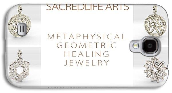 Geometry Jewelry Galaxy S4 Cases - 3D Arts Models 3 Galaxy S4 Case by Derek Gedney