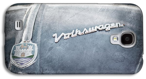 Transportation Photographs Galaxy S4 Cases - 1956 Volkswagen VW Bug Hood Emblem Galaxy S4 Case by Jill Reger