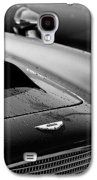 Transportation Photographs Galaxy S4 Cases - 1959 Aston Martin Db4 Gt Hood Emblem Galaxy S4 Case by Jill Reger