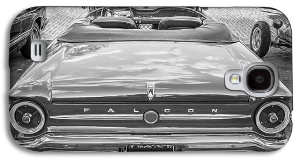 1963 Ford Galaxy S4 Cases - 1963 Ford Falcon Sprint Convertible BW  Galaxy S4 Case by Rich Franco