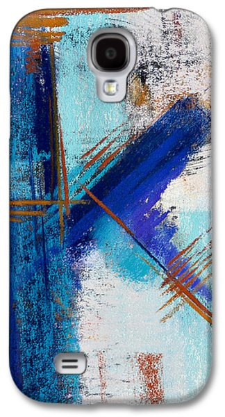 Contemporary Abstract Pastels Galaxy S4 Cases - Icy Stares #4 Galaxy S4 Case by Tracy L Teeter