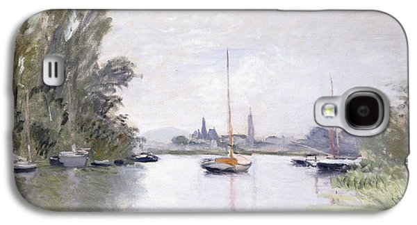 Posters On Paintings Galaxy S4 Cases - Argenteuil Galaxy S4 Case by Claude Monet