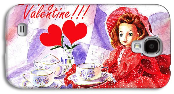 Tea Party Paintings Galaxy S4 Cases - Be My Valentine Galaxy S4 Case by Irina Sztukowski