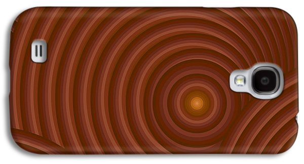 Brown Tones Galaxy S4 Cases - Brown Abstract Galaxy S4 Case by Frank Tschakert
