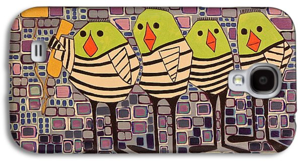Jail Paintings Galaxy S4 Cases - 4 Calling Birds Galaxy S4 Case by Donna Howard