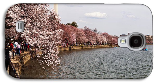 Cherry Blossoms Galaxy S4 Cases - Cherry Blossom Trees In The Tidal Basin Galaxy S4 Case by Panoramic Images