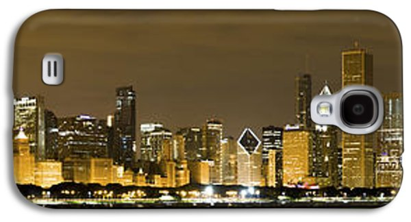 Chicago Skyline At Night Galaxy S4 Case by Sebastian Musial
