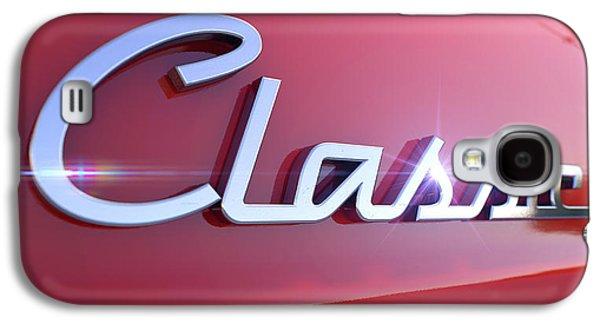 Shield Digital Art Galaxy S4 Cases - Classic Chrome Car Emblem Galaxy S4 Case by Allan Swart