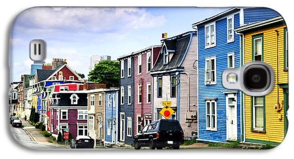 Town Galaxy S4 Cases - Colorful houses in St. Johns Galaxy S4 Case by Elena Elisseeva
