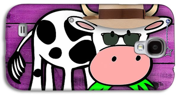 Cool Cow Collection Galaxy S4 Case by Marvin Blaine