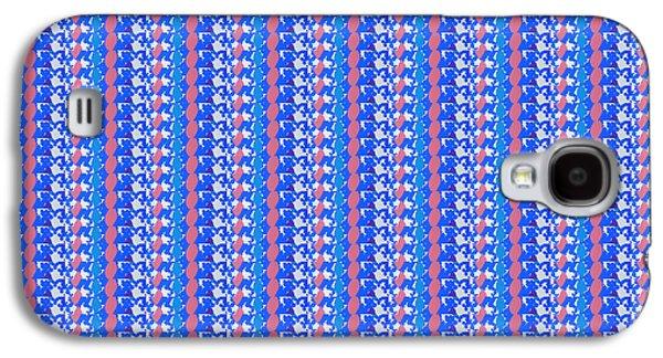 Business Galaxy S4 Cases - DownLOAD  ART PIXELS Designer Texture Pattern Art  Sparkle Blue Mix Galaxy S4 Case by Navin Joshi