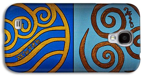 Wicca Paintings Galaxy S4 Cases - 4 Elements In CyLantyca Galaxy S4 Case by Cyryn Fyrcyd